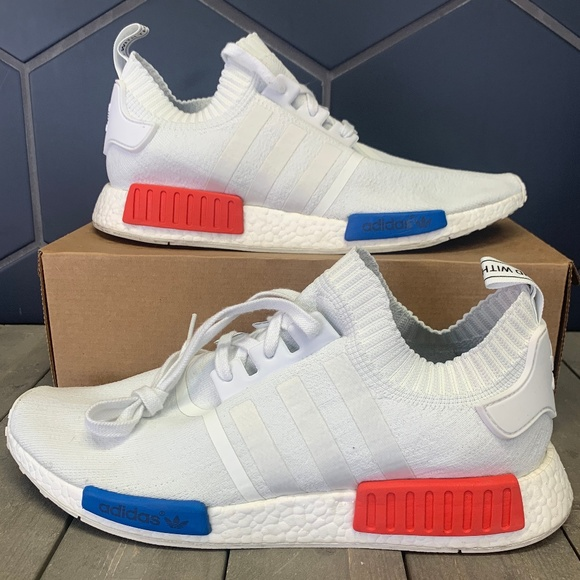 Adidas Shoes Used Nmd R1 Vintage White Red Shoe Size 14 Poshmark